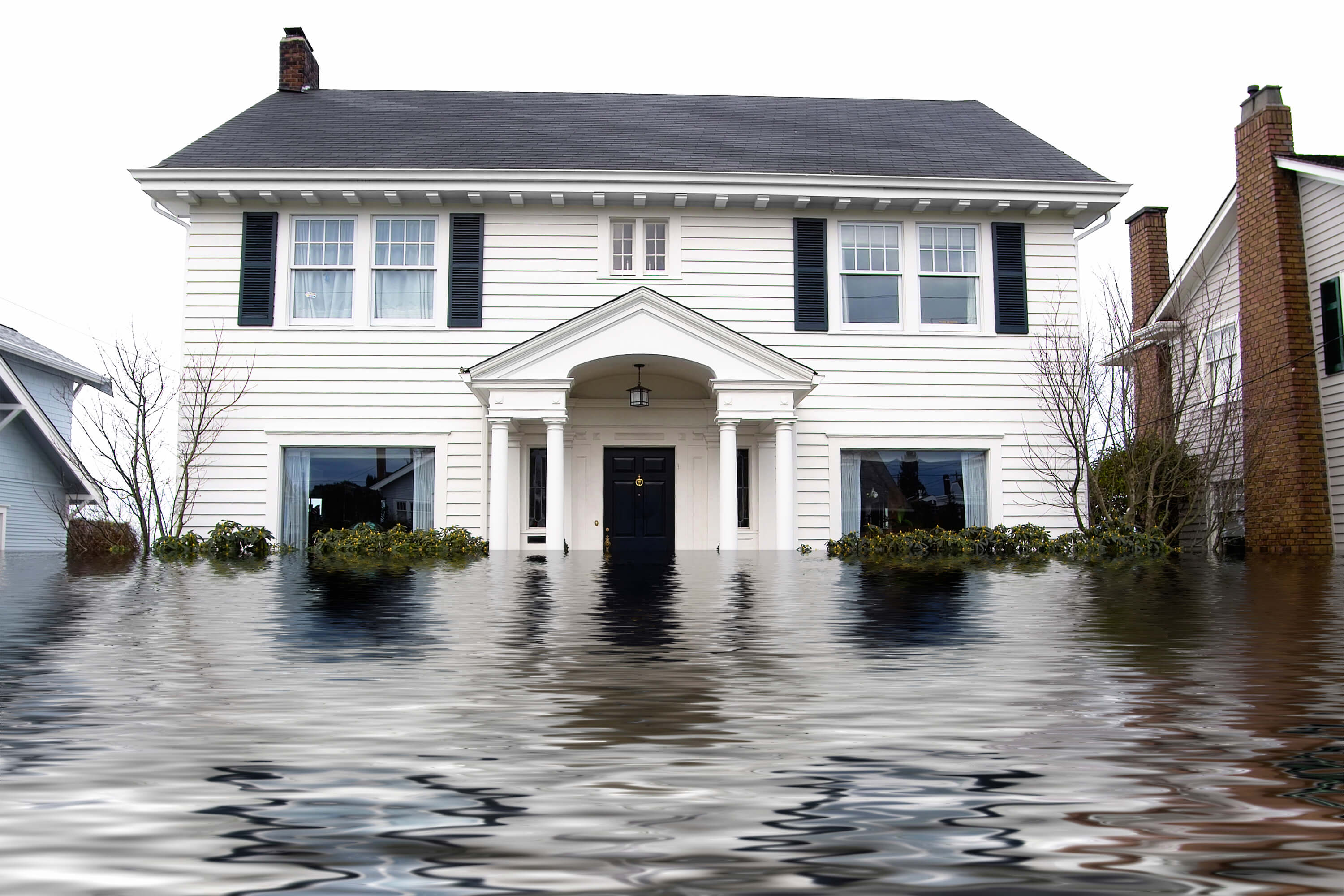 Water damage and flooding to house