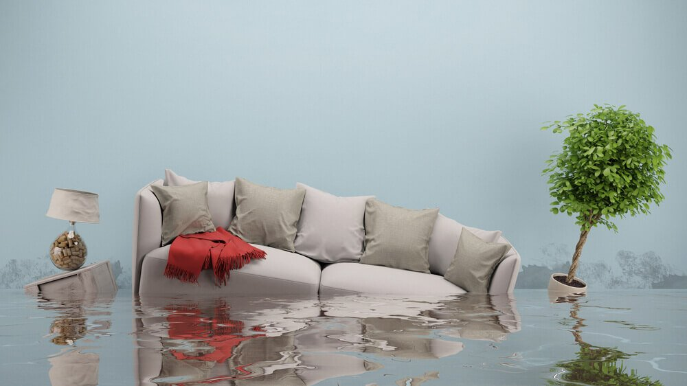 Flooding and water damage to furniture